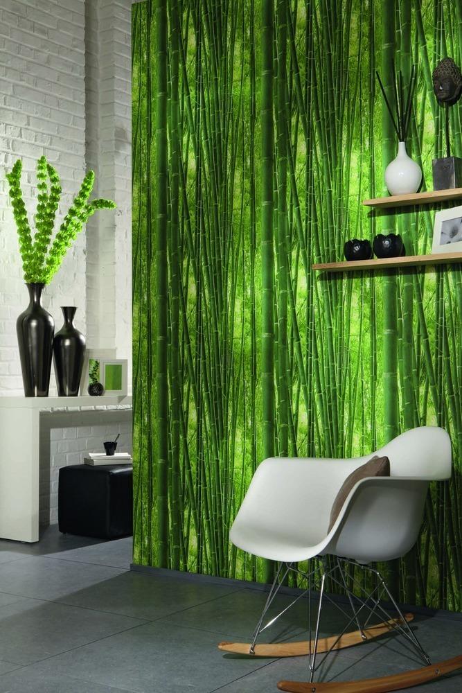 fotomural bosque bambú