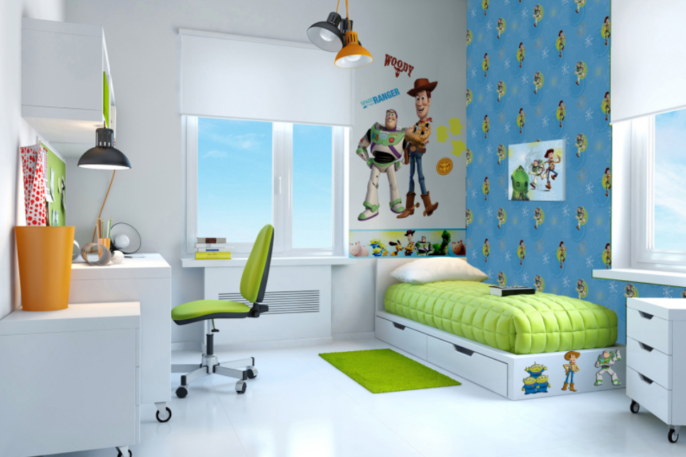 Papeles pintados de disney saint honor for Habitaciones infantiles disney