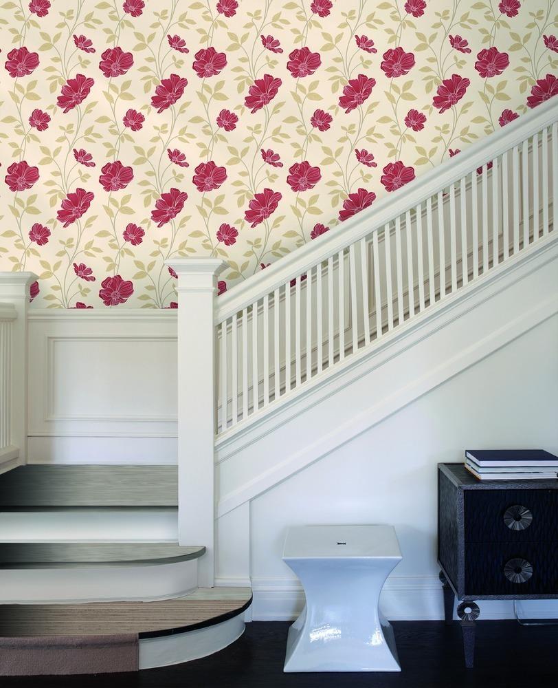 papel pintado flores vintage
